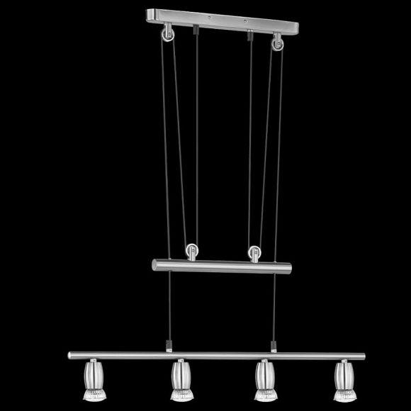 Schlichte vierflammige LED-JoJo-Pendelleuchte - modernes Design - inklusive LED-Leuchmittel