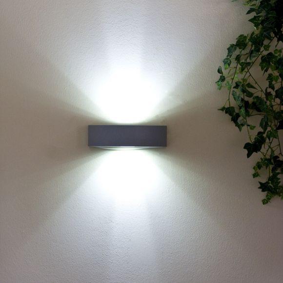 LED Wandleuchte aus Aluminium-Druckguss, 2 x 20 LEDs 4,8W  6000K