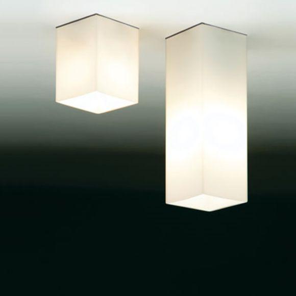 Halogen Deckenleuchte Quadro - Opalglas - 4 Ausführungen