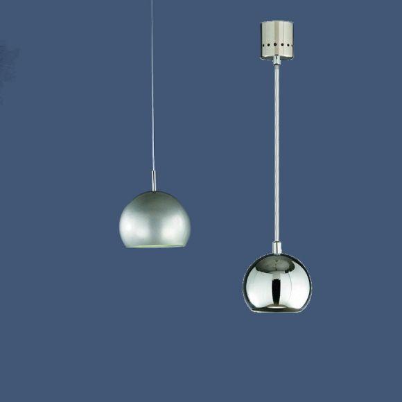moderne energiespar pendelleuchte in titan silber oder chrom exklusive leuchtmittel wohnlicht. Black Bedroom Furniture Sets. Home Design Ideas