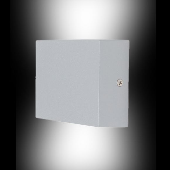 LED-Außenwandleuchte aus Aluminium, LED 4 x 1W, Up & Downlight