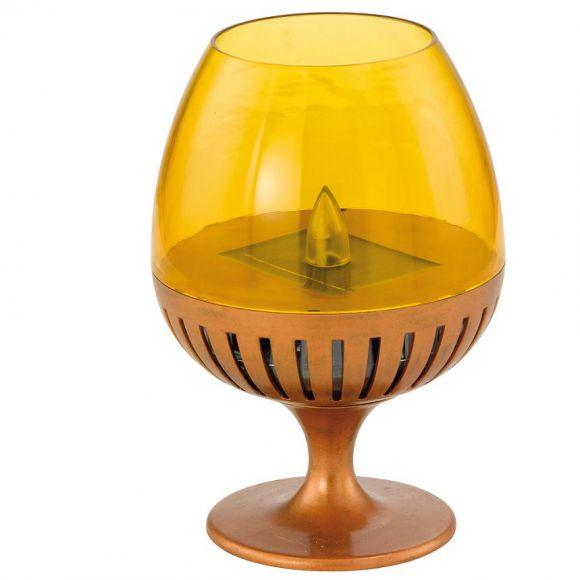 led solarleuchte glas aus kunststoff mit gelbem flackerlicht wohnlicht. Black Bedroom Furniture Sets. Home Design Ideas