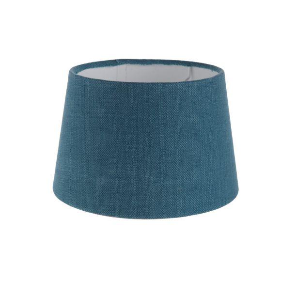 lampenschirm aus stoff in blau rund 20cm aufnahme e27 unten wohnlicht. Black Bedroom Furniture Sets. Home Design Ideas
