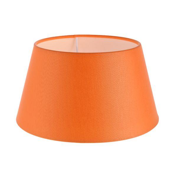 lampenschirm aus stoff in orange rund 25cm aufnahme e27 unten wohnlicht. Black Bedroom Furniture Sets. Home Design Ideas