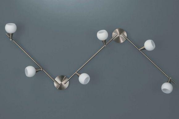 Stangensystem mit opalem Kugelglas inkl.Energiesparlampe