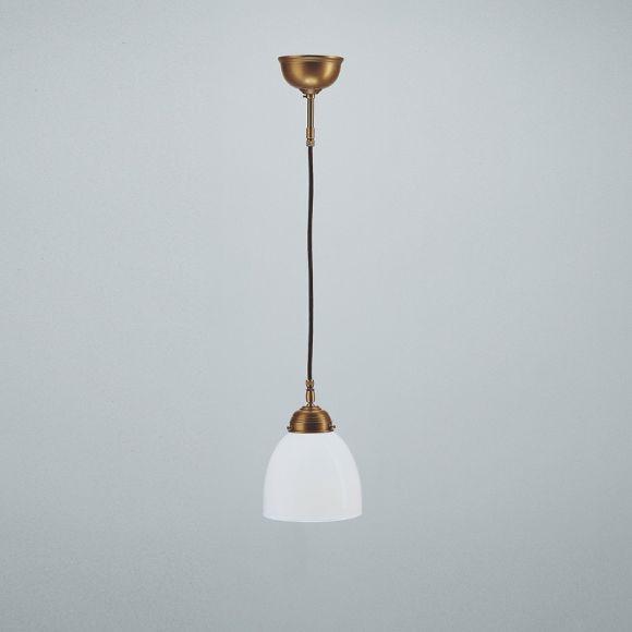 berliner messing pendelleuchte mit und ohne zugschalter opalglas 15 cm wohnlicht. Black Bedroom Furniture Sets. Home Design Ideas