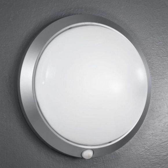 Sensorleuchte in Silber, Leuchte mit Infrarotsensor