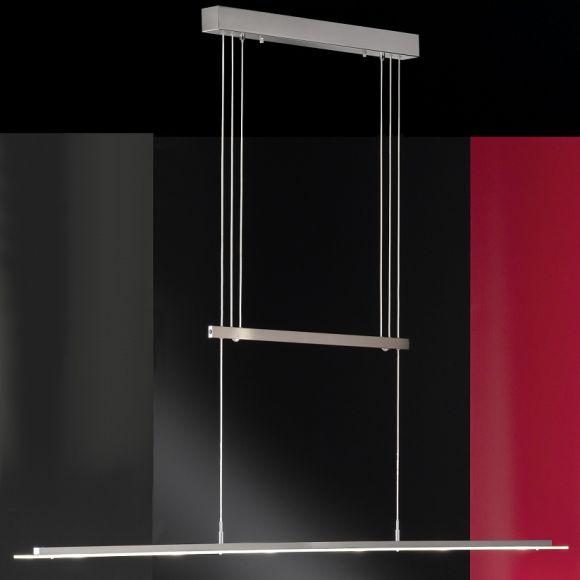 led pendelleuchte 6 flammig h henverstellbar 6 x. Black Bedroom Furniture Sets. Home Design Ideas