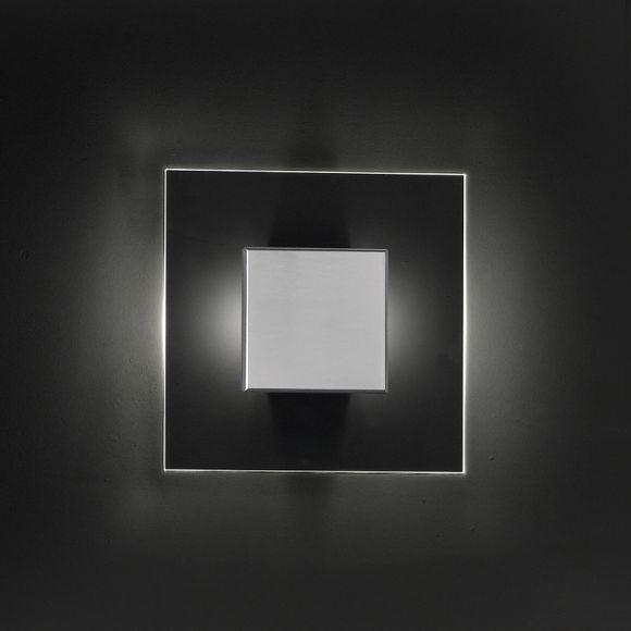 Moderne LED-Wandleuchte - Nickel matt - Glas klar - Inklusive Citizen Power LED