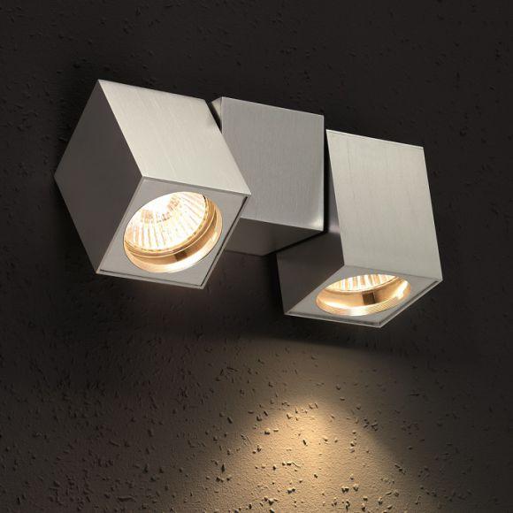 schwenkbare minimalistische wandleuchte aluminium. Black Bedroom Furniture Sets. Home Design Ideas