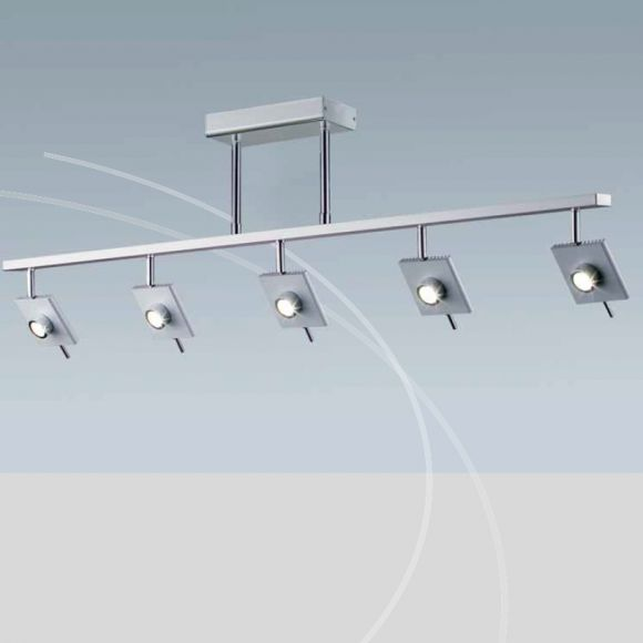 deckenleuchte in grau 4 oder 5 dimmbare led spots w hlbar 6w led leuchtmittel inklusive. Black Bedroom Furniture Sets. Home Design Ideas