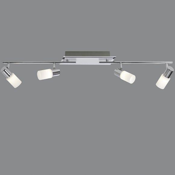 4-flg. LED-Strahlerbalken, schwenkbar, Aluminium / Chrom