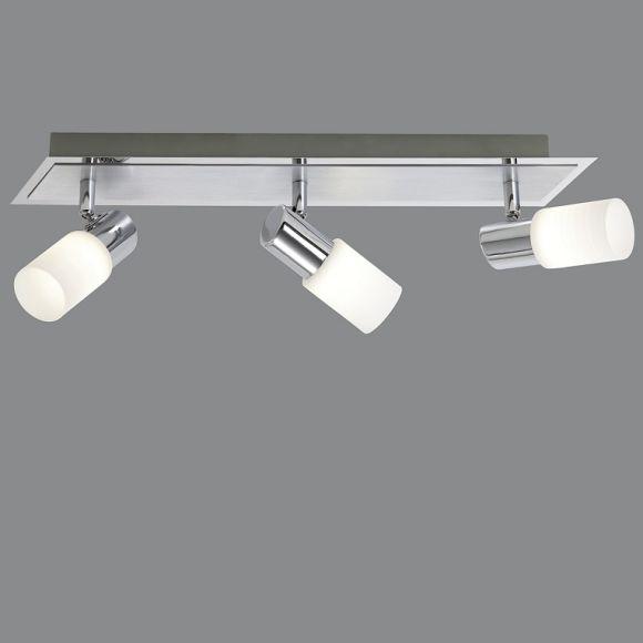 3-flg. LED-Balken, schwenkbar, Aluminium und Chrom
