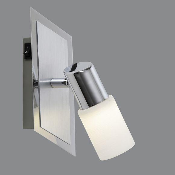 LED-Wandspot schwenkbar, Aluminium und Chrom inklusive 1x LED 5Watt, 3000K 330lm