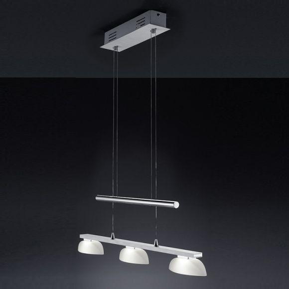 led pendelleuchte 3 4 oder 6 flammig aluminium chrom wohnlicht. Black Bedroom Furniture Sets. Home Design Ideas