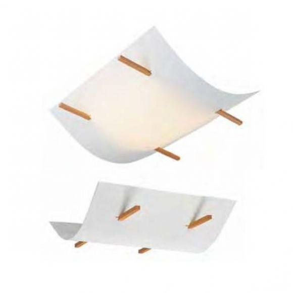 Leuchte mit Lunopalschirm, für Wand- oder Deckenmontage geeignet