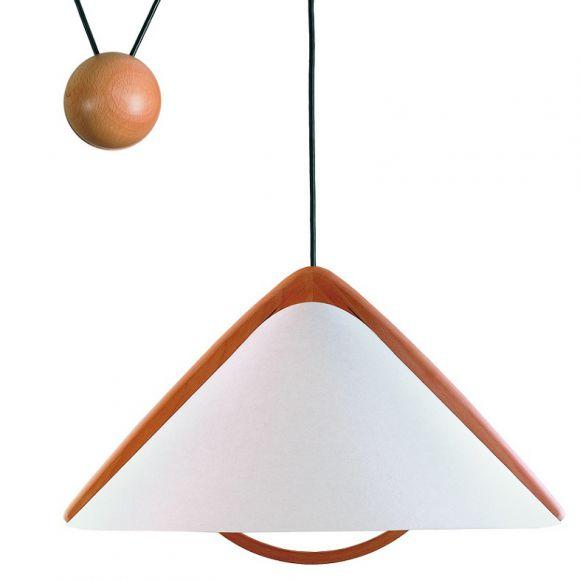 design zugpendelleuchte h henverstellbar mit lunopalschirm. Black Bedroom Furniture Sets. Home Design Ideas