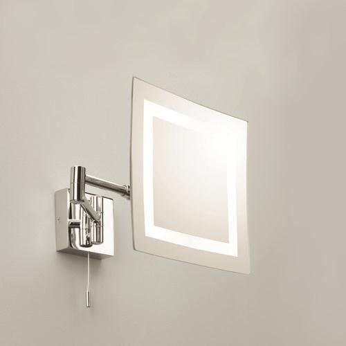 beleuchteter kosmetikspiegel mit lupenfunktion chrom. Black Bedroom Furniture Sets. Home Design Ideas