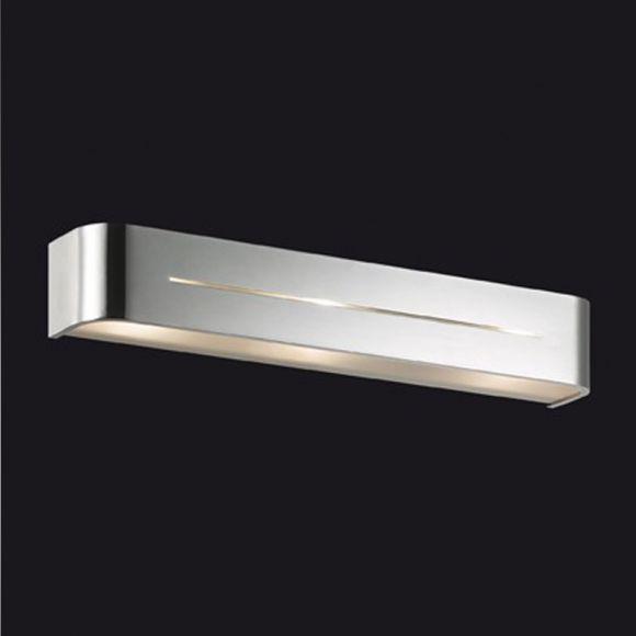 Wandleuchte Länge 50cm in aluminium gebürstet, chrom oder weiß erhältlich