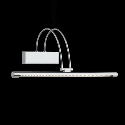 LED-Bilderleuchte Länge 46cm in Chrom oder Nickel wählbar, 66 LEDs je 0,07Watt, 4100K