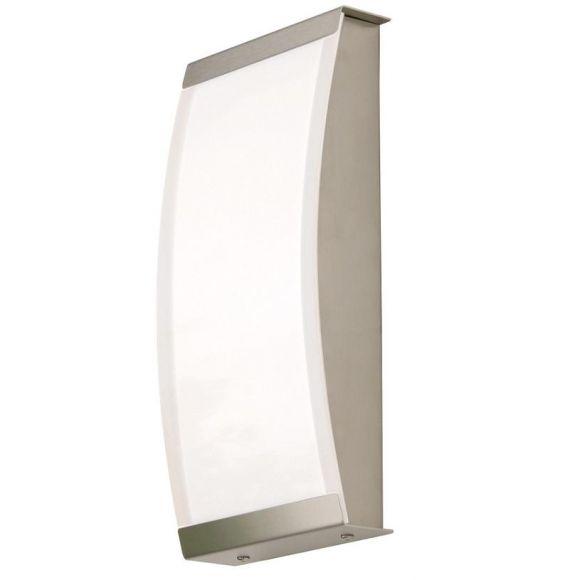 Moderne LED - Aussenwandleuchte - Edelstahl