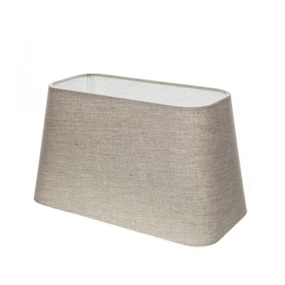 lampenschirm aus stoff sandfarben rechteckig aufnahme e27 unten wohnlicht. Black Bedroom Furniture Sets. Home Design Ideas