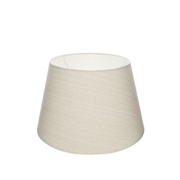 lampenschirm aus stoff in wei rund 20cm aufnahme e27 unten wohnlicht. Black Bedroom Furniture Sets. Home Design Ideas