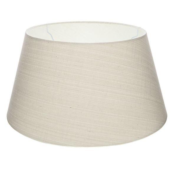 lampenschirm aus stoff in wei rund 45cm aufnahme unten e27 wohnlicht. Black Bedroom Furniture Sets. Home Design Ideas