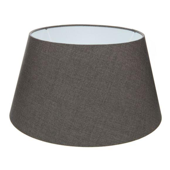 lampenschirm aus stoff in anthrazit rund 35cm aufnahme e27 unten wohnlicht. Black Bedroom Furniture Sets. Home Design Ideas