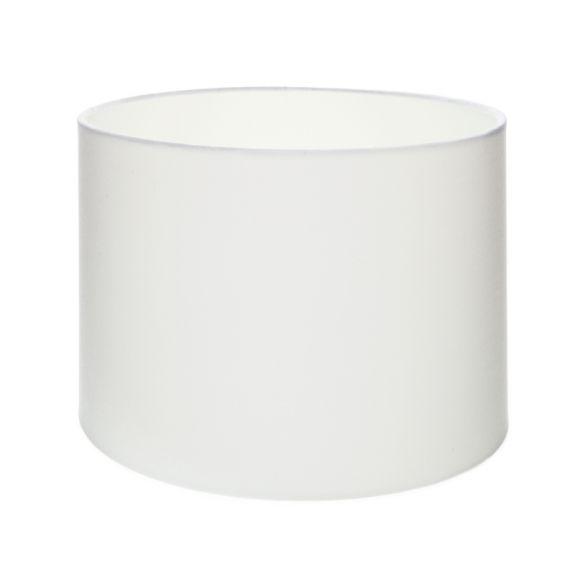 lampenschirm aus stoff in wei zylinderf rmig 30cm. Black Bedroom Furniture Sets. Home Design Ideas