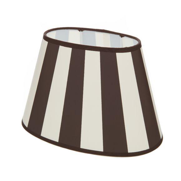 lampenschirm aus stoff in creme mit dunkelbraunen streifen. Black Bedroom Furniture Sets. Home Design Ideas