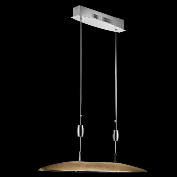 led pendelleuchte aluminium chrom 6 flammig goldfarben wohnlicht. Black Bedroom Furniture Sets. Home Design Ideas