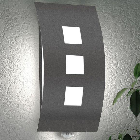 moderne au enwandleuchte mit bewegungsmelder wohnlicht. Black Bedroom Furniture Sets. Home Design Ideas