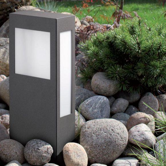 moderne pollerleuchte aus stahlblech wohnlicht. Black Bedroom Furniture Sets. Home Design Ideas