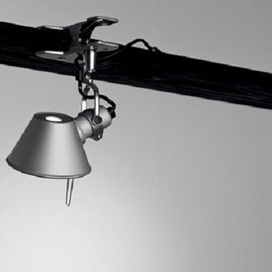 TOLOMEO MICRO PINZA LED von Artemide - in Aluminium mit Dimmer
