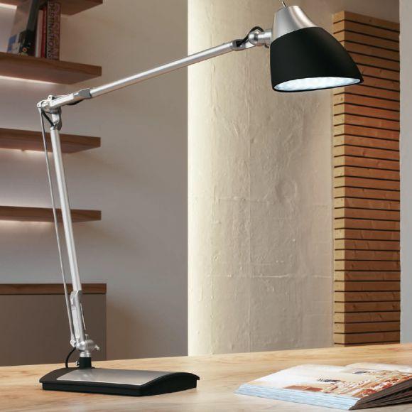 led arbeitsplatzbeleuchtung moderne schreibtischleuchte 2 farben schwarz silber wohnlicht. Black Bedroom Furniture Sets. Home Design Ideas