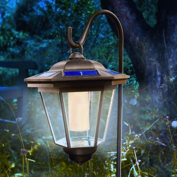led solarleuchte laterne mit erdspie wohnlicht. Black Bedroom Furniture Sets. Home Design Ideas