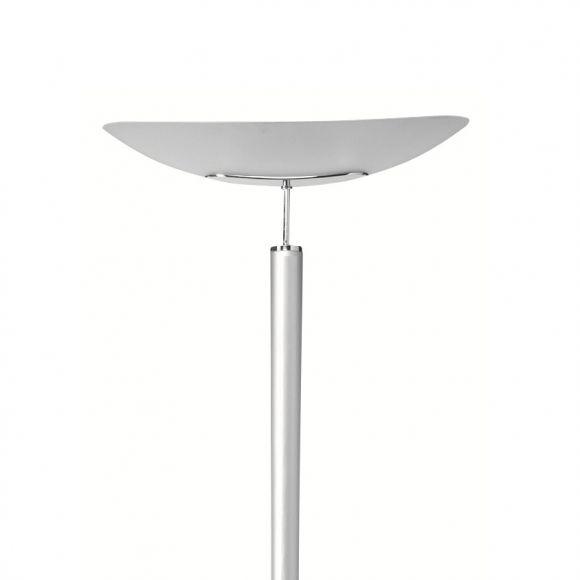 b ro deckenfluter mit glasschirm chrom inklusive dimmer wohnlicht. Black Bedroom Furniture Sets. Home Design Ideas