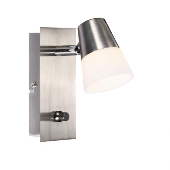 led wandleuchte chic mit glas in 2 versionen dimmer 5w led wohnlicht. Black Bedroom Furniture Sets. Home Design Ideas
