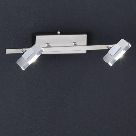 led wandleuchte schwenkbar inklusive 2 power led 4 watt 2700k warmwei je 300 lumen wohnlicht. Black Bedroom Furniture Sets. Home Design Ideas