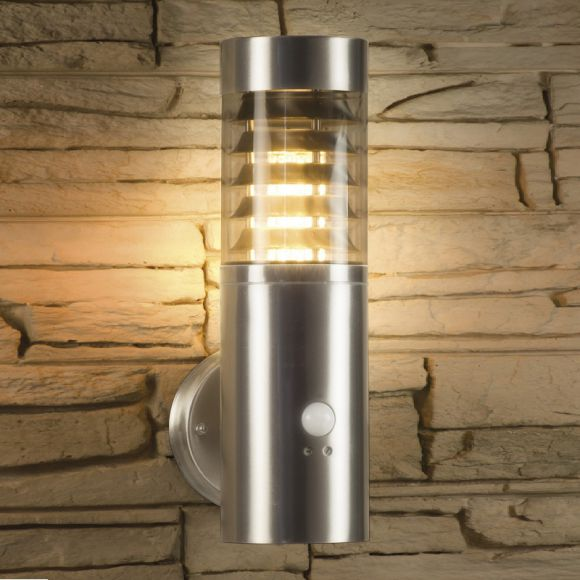 au enwandleuchte aus edelstahl mit sensortechnik ip44 wohnlicht. Black Bedroom Furniture Sets. Home Design Ideas