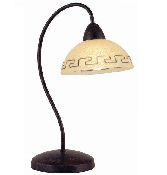 tischleuchte im landhausstil 1 flammig wohnlicht. Black Bedroom Furniture Sets. Home Design Ideas