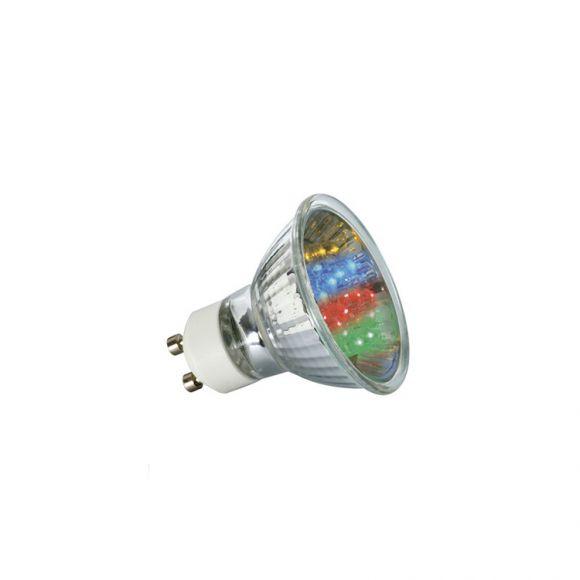 multicolor led lampe gu10 1w mit automatischem farbwechsel wohnlicht. Black Bedroom Furniture Sets. Home Design Ideas