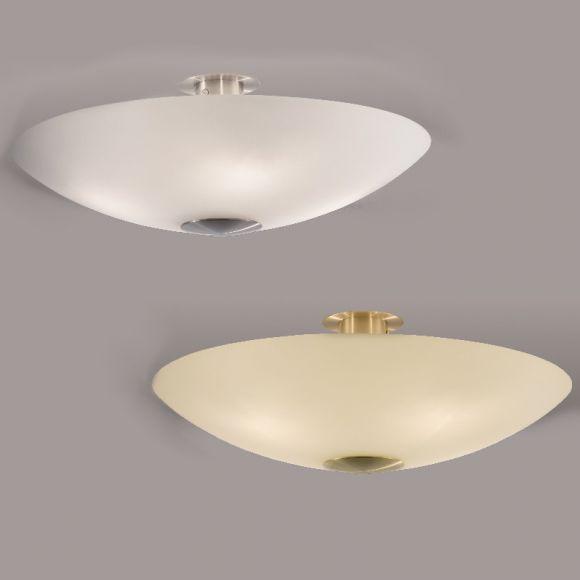 B+M Deckenleuchte in Nickel-matt oder Messing-matt/ poliert erhältlich - Ø 50cm - inklusive 4x 52W ECO-Glühlampen