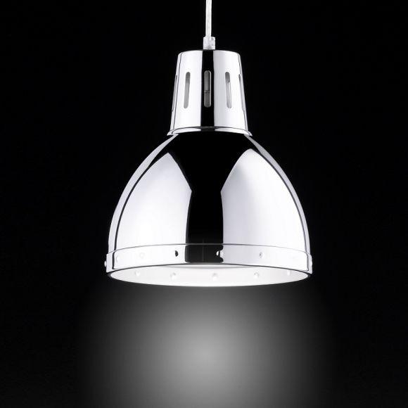 pendelleuchte deventer in chrom industrie look wohnlicht. Black Bedroom Furniture Sets. Home Design Ideas