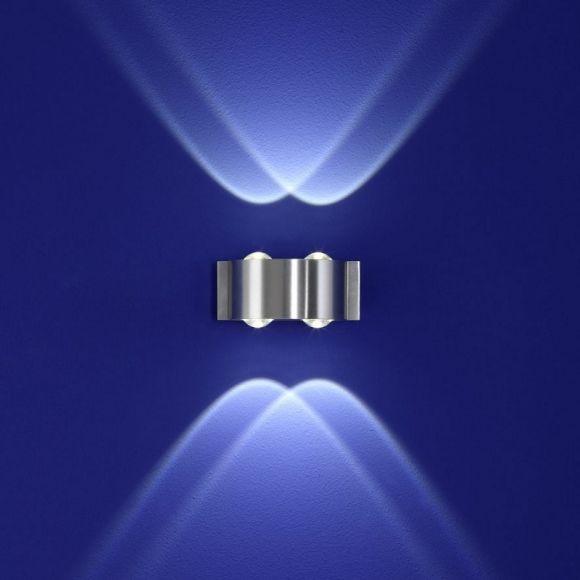 led aluminium wandleuchte stream wohnlicht. Black Bedroom Furniture Sets. Home Design Ideas