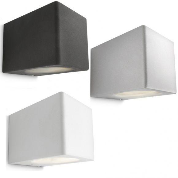moderne wandleuchte aluminium lichtaustritt oben und unten 3 farben wohnlicht. Black Bedroom Furniture Sets. Home Design Ideas