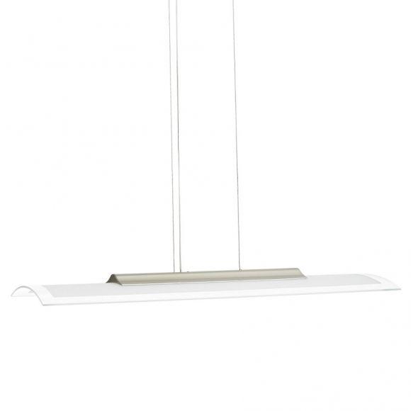 hochwertige led glas pendelleuchte eckig aluminium geb rstet glas wohnlicht. Black Bedroom Furniture Sets. Home Design Ideas