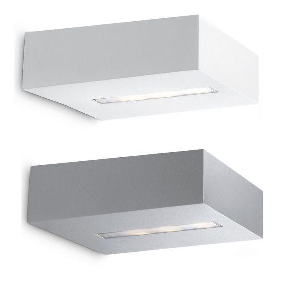 modern led wandleuchte lichtaustritt oben oder unten aluminium 2 farben wohnlicht. Black Bedroom Furniture Sets. Home Design Ideas