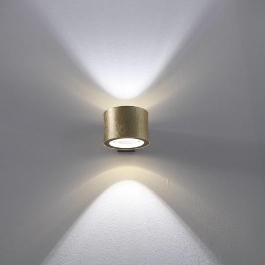 hochwertige wandleuchte lichtverteilung nach oben und unten gold wohnlicht. Black Bedroom Furniture Sets. Home Design Ideas